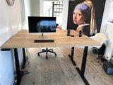 steelforce 670 natuur eiken zwart frame | kies voor een gezonde werkplek bezoek Worktrainer.nl