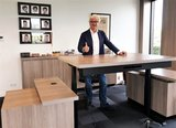 S670 Zwart met speciaalblad | kies voor een gezonde werkplek bezoek Worktrainer.nl