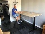 S670 Zit-sta bureau n zwarte deskbike | kies voor een gezonde werkplek bezoek Worktrainer.nl