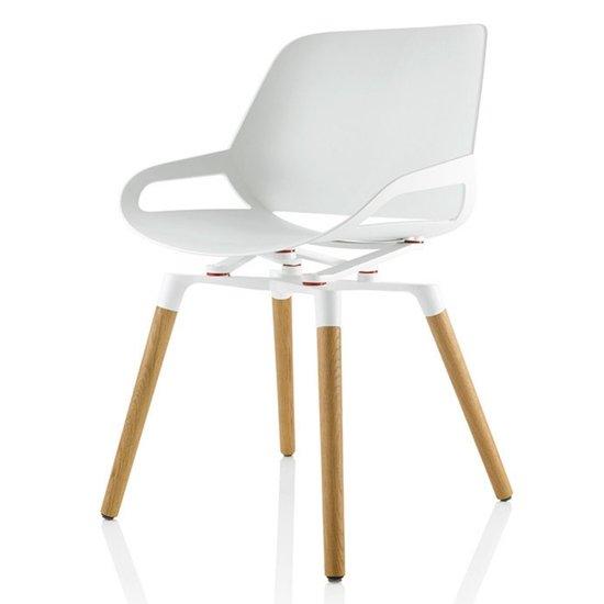[AF NL & ENG. & DUITS ] Actieve designstoel - Numo met Houten poten