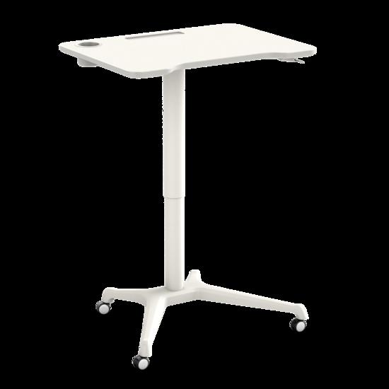 [ Af NL & ENG.+ DUITS KLAAR ] Klein gasveer zit-sta bureau - Single Leg Desk Wit
