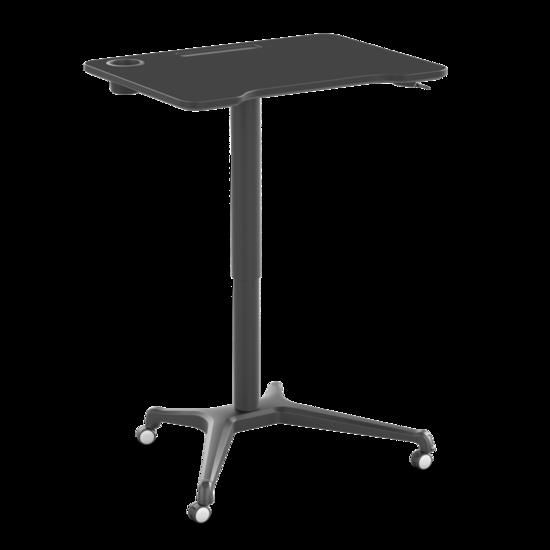 [ Af NL & ENG. + DUITS KLAAR] Klein gasveer zit-sta bureau - Single Leg Desk Zwart