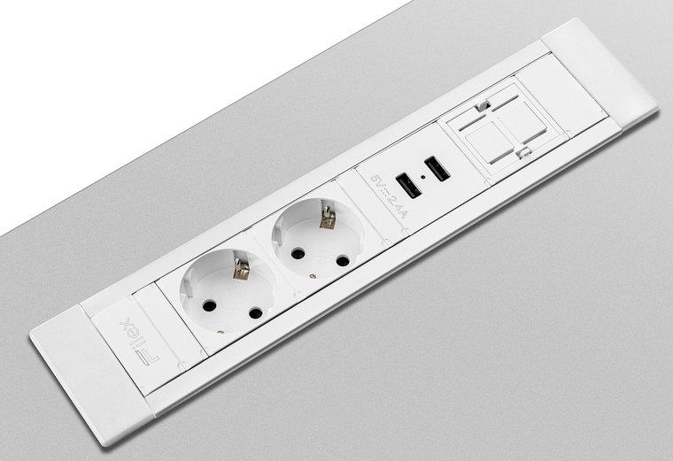 [AF NL & ENG.& DUITS ] Inbouwunit - Power Desk Insert