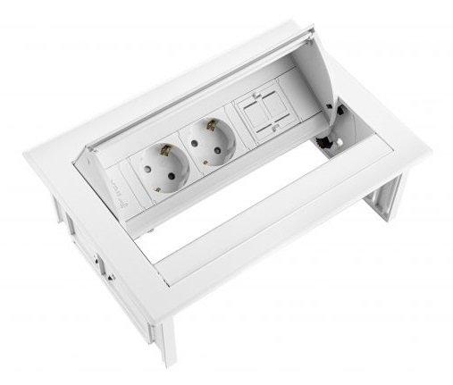 [ Af NL & ENG. & DUITS Inbouwunit - Power Desk In
